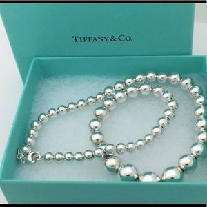 Tiffany silver ball necklace